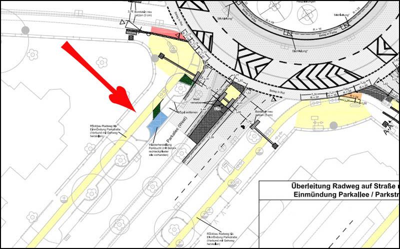 Parkallee Detail