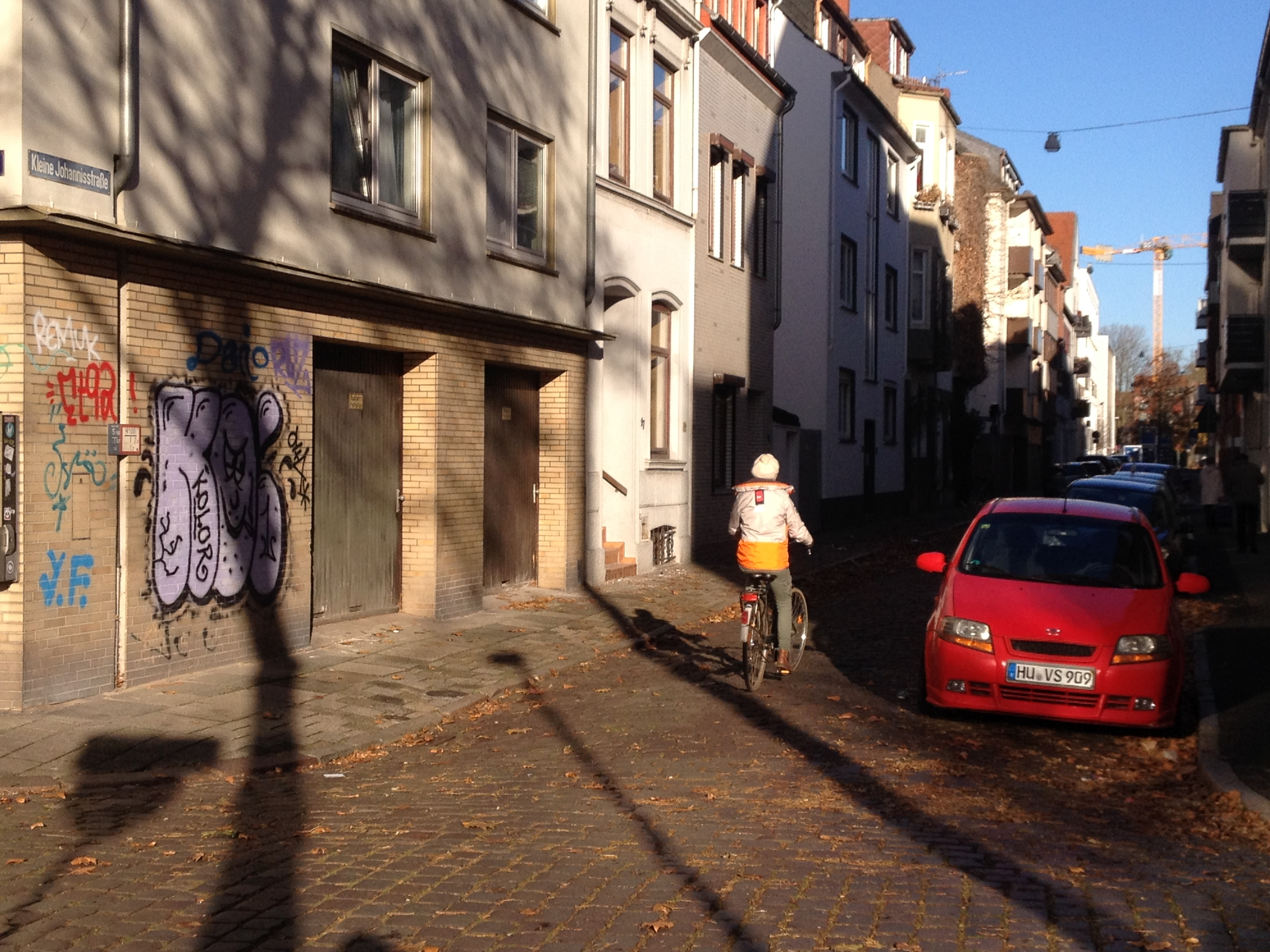 Kleine Johannisstrasse: One of the more uncomfortable streets for cycling