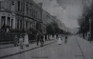 Dieselbe Straße wie oben, Schönhausenstraße, aber Ende des 19. Jh.
