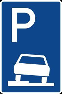 Zeichen 315 Parken auf Gehwegen